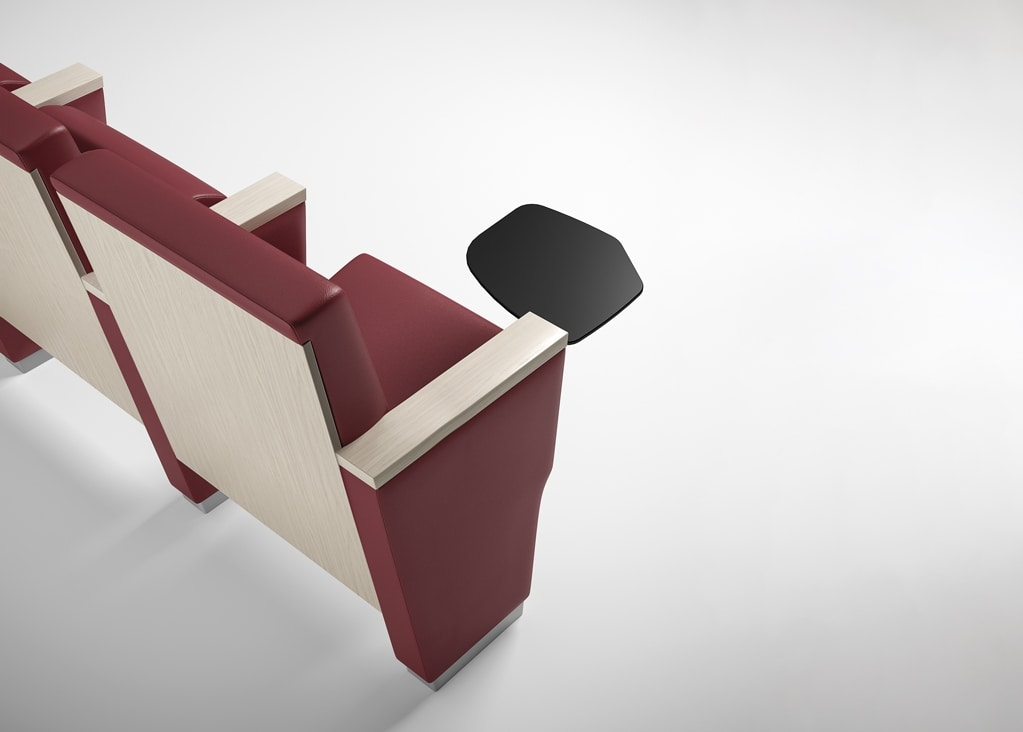 ROYALE, Conference armchair, can be equipped with writing tablet and multimedia system