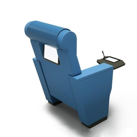 ROYALE VIP, Multimedial armchair for auditorium, with touch screen