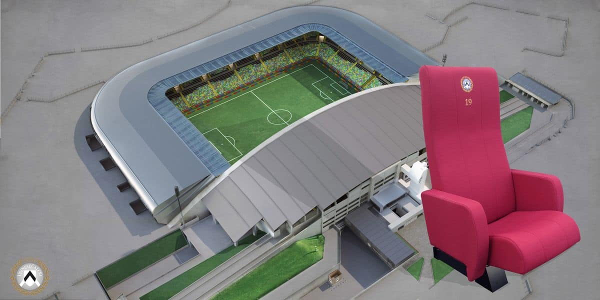 Stadium seats, Armchairs with folding seat with heating, for stadiums