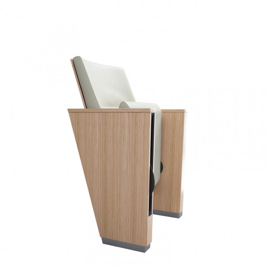 TEMPO EVO, Auditorium armchair with numerous accessories