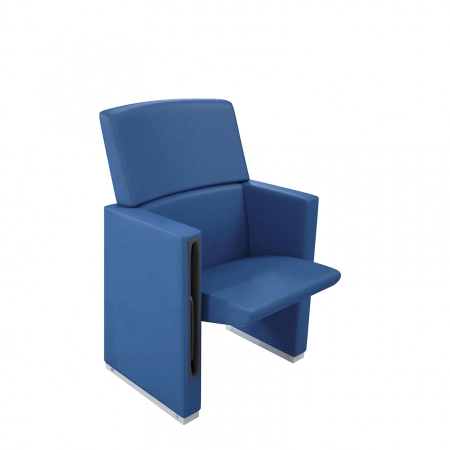 TEMPO PLUS, Theater armchair with fully upholstered back