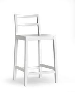 GAIA Barstool, Stool made of beech wood with fixed height