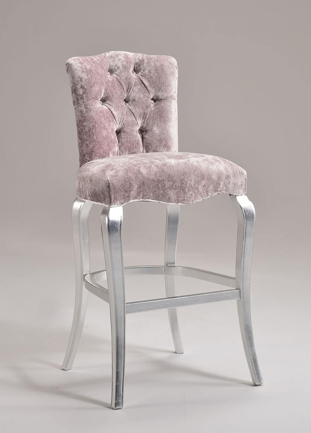 ROYAL barstool 8494B, Beech stool, quilted backrest, for historic bar
