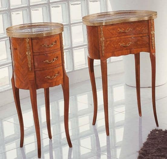 Art. 55, Wooden cabinet, bean-shaped, classic style