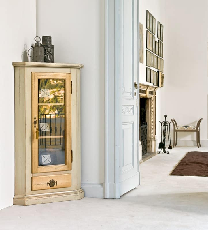 COLUMBA Art. 1270, Classic corner cabinet, in lacquered wood, for restaurant