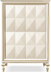 Diamante cabinet, Cabinet with glass internal shelves