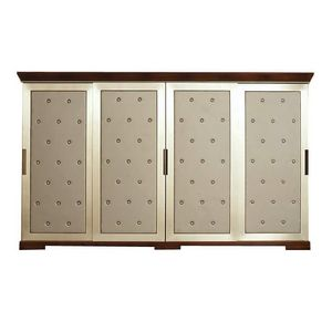 Mart CH.0004, Wardrobe with sliding doors upholstered in eco-leather