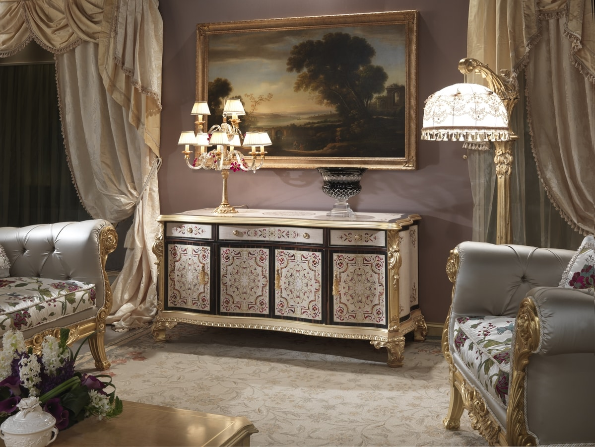 Nobile-G cabinet, Classic style living room furniture