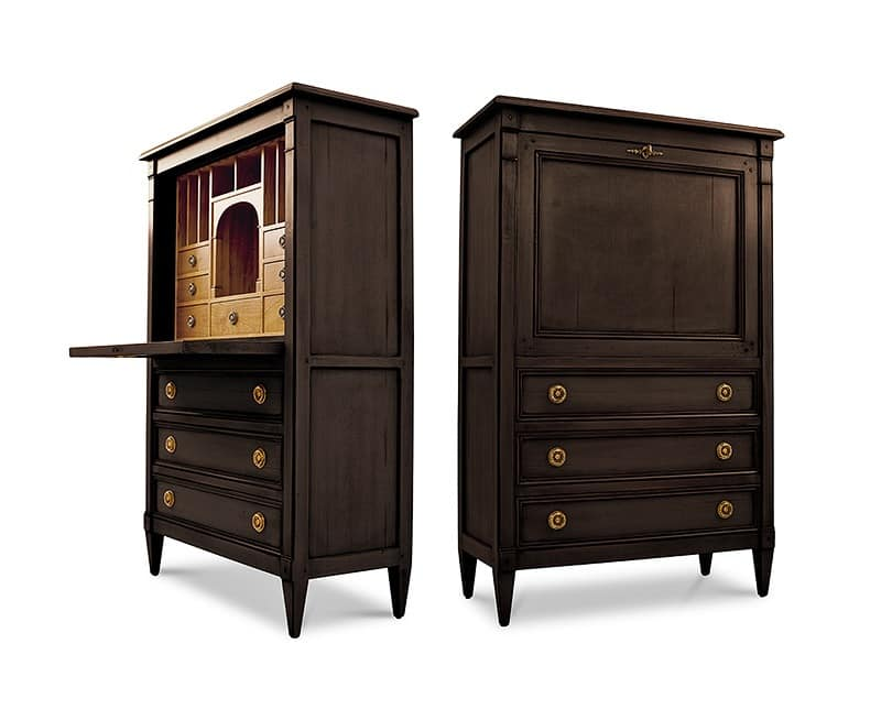 ORION Art. 1494, Classic lacquered cabinet, with flap door, for living room
