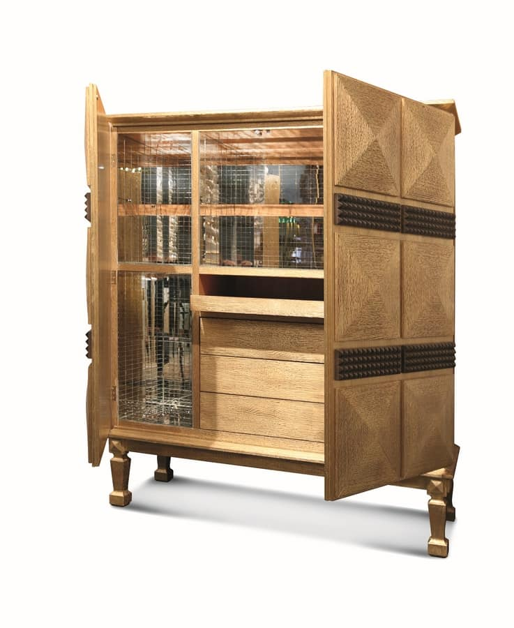 Pavo, Cocktail cabinet, luxurious, handcrafted