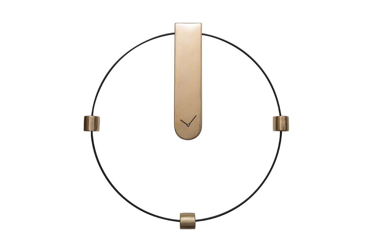 MEMO, Clock in lacquered metal and ceramic
