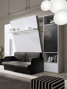 54011 54017 SALVASPAZIO, Wardrobe with space-saving bed