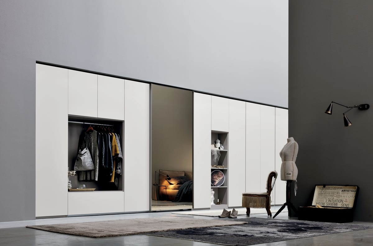 ALA LINEAR, Wardrobe With Mirror For Bedroom