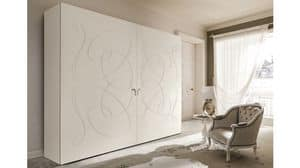 Arezzo wardrobe, Wall wardrobe with curvilinear motifs on 2 ports