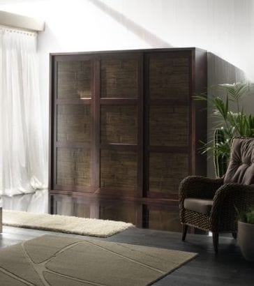 Armadio rumba tiger, Wardrobe with 3 sliding doors, ethnic style