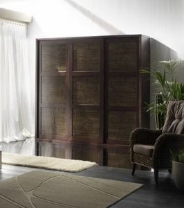 Armadio rumba tiger, Wardrobe with 3 sliding doors, ethnic style