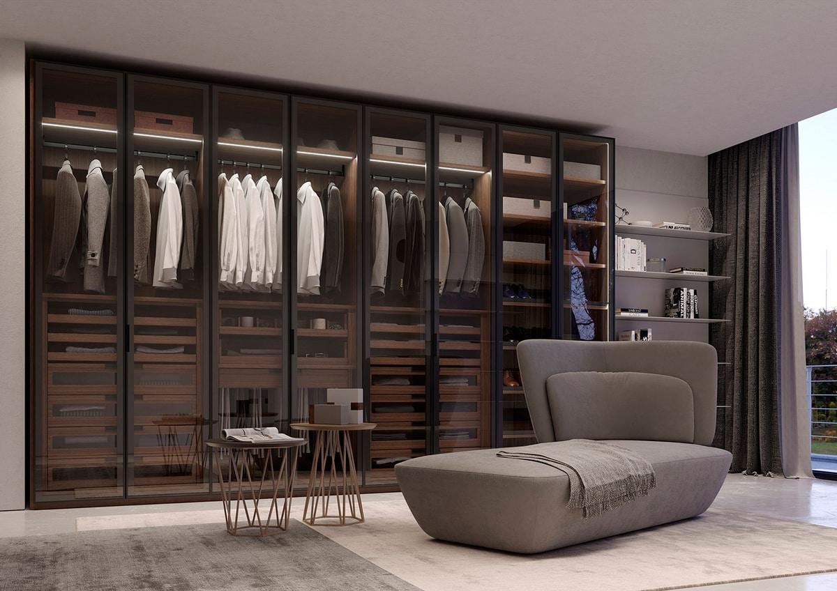 ATLANTE WIND comp.03, Modular wardrobe with an elegant design