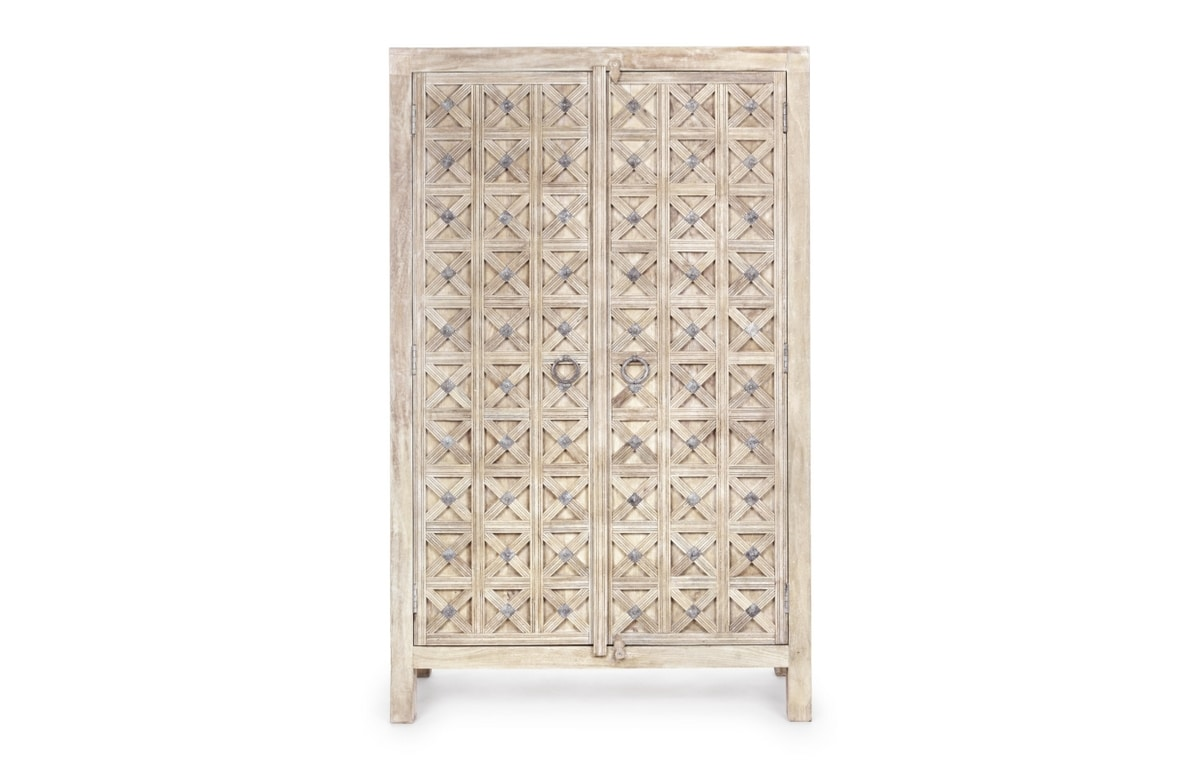 Cabinet 2A Engrave, Ethnic cabinet with two doors