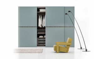 DESI, Elegant wardrobe with sliding doors
