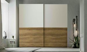 Double, Wardrobe with sliding doors
