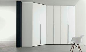 Dressing room wardrobe, Modular corner wardrobe
