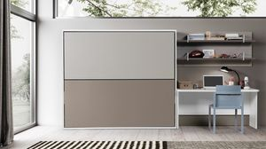 FILO space saving, Wardrobe with two foldaway beds