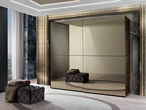 Incanto wardrobe, Wardrobe with mirrored sliding doors