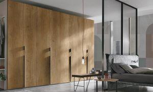 Liscia, Wooden wardrobe, hinged doors