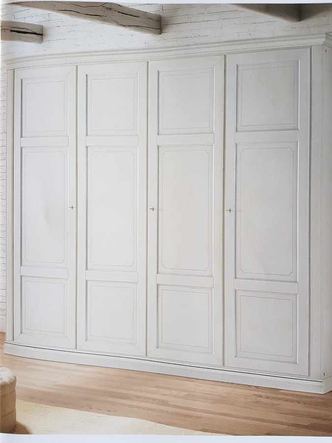 London, Lacquered wooden wardrobe