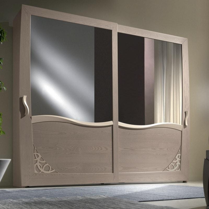 Luna LUNA5138-289, Wardrobe with 2 sliding mirrored doors