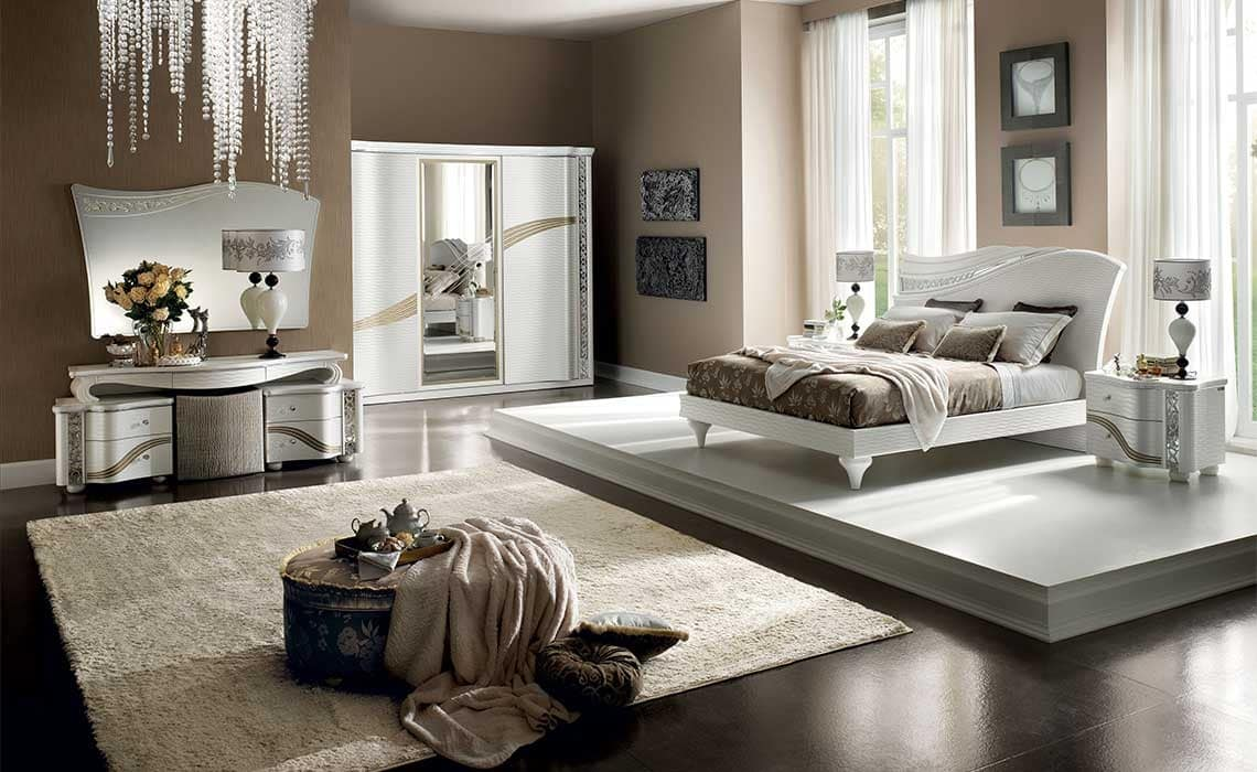 Wardrobe With Sliding Doors And Central Mirror Idfdesign