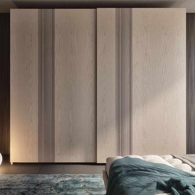 Nova NOVA1318T, Wardrobe with ash doors and solid wood inserts