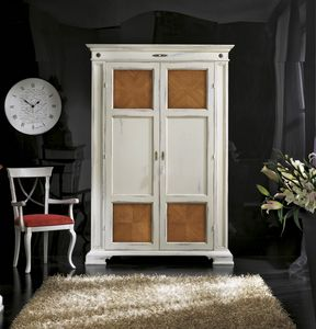 Pantry cabinet, White lacquered wardrobe