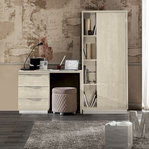 Platinum writing desk cabinet, Cabinet with writing desk
