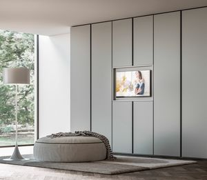 PRESA, Wardrobe with opening TV stand