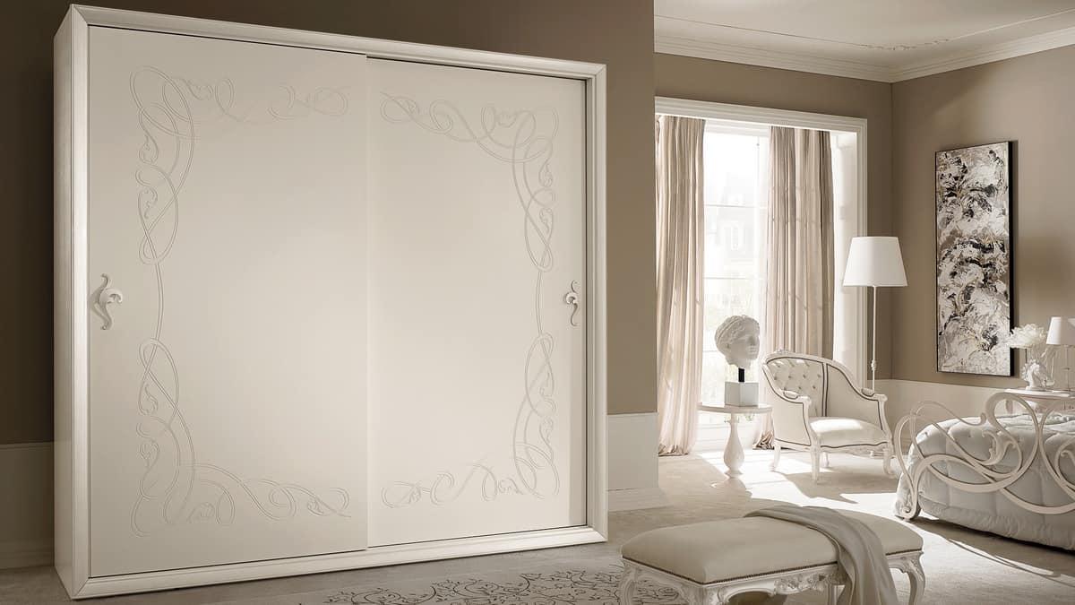 Siena Frame wardrobe, Wardrobe with sliding doors, classic contemporary style