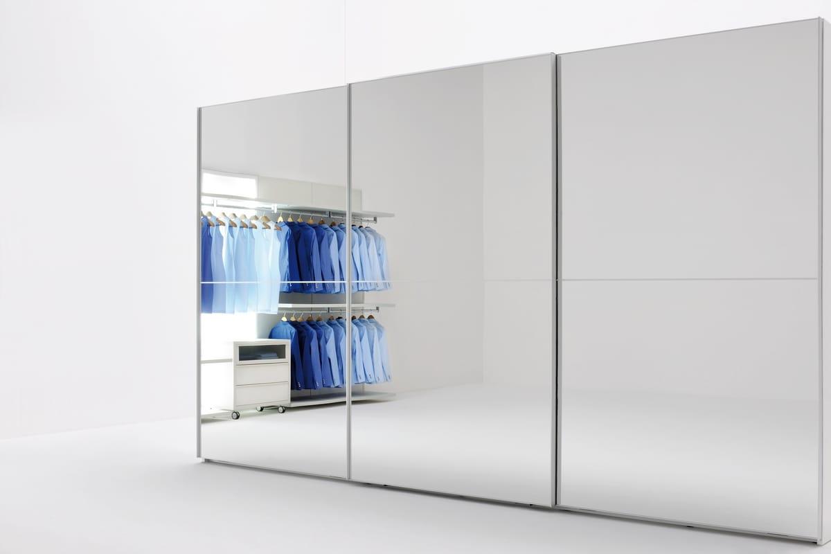 Wardrobe With Mirror Doors With Sliding Doors Idfdesign