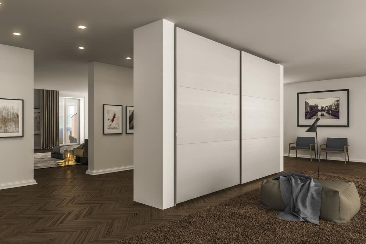 Armadio A Scomparsa sliding doors wardrobe, with retractable handles | idfdesign