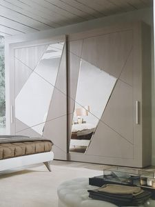 Timetwo, Wardrobe with mirrored sliding doors
