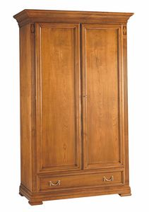 Villa Borghese wardrobe 7377, Traditional wooden wardrobe with two doors