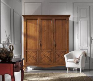 Wardrobe 3 doors inlay, Classic style wardrobe