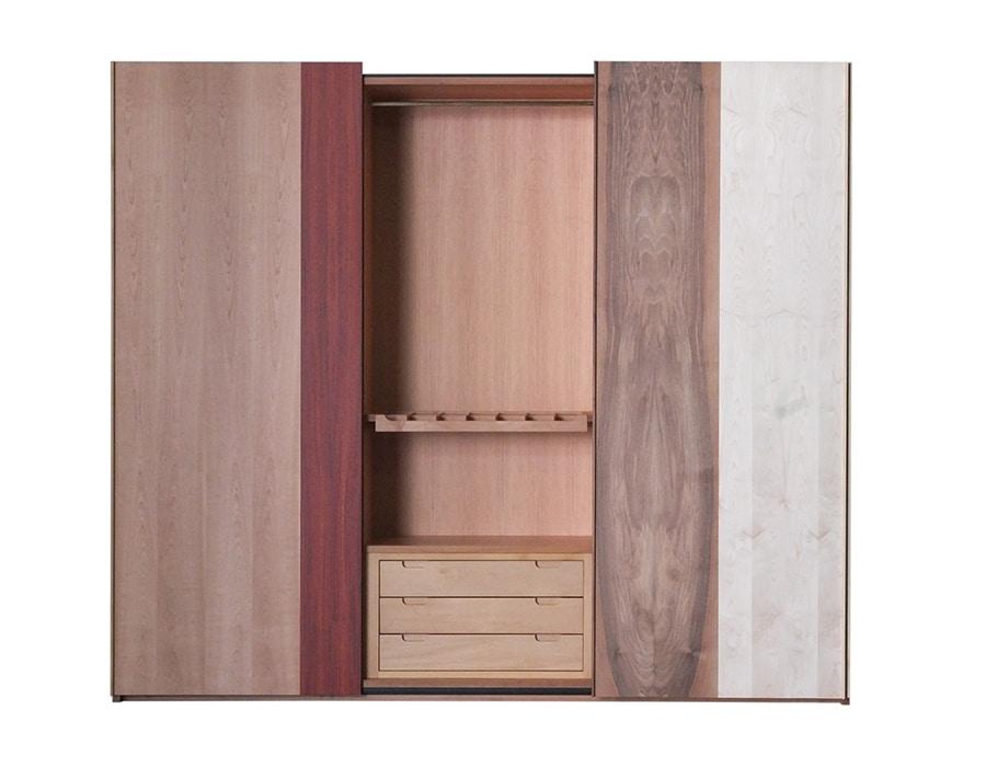 Xilo 0390, Wardrobe with 3 sliding doors