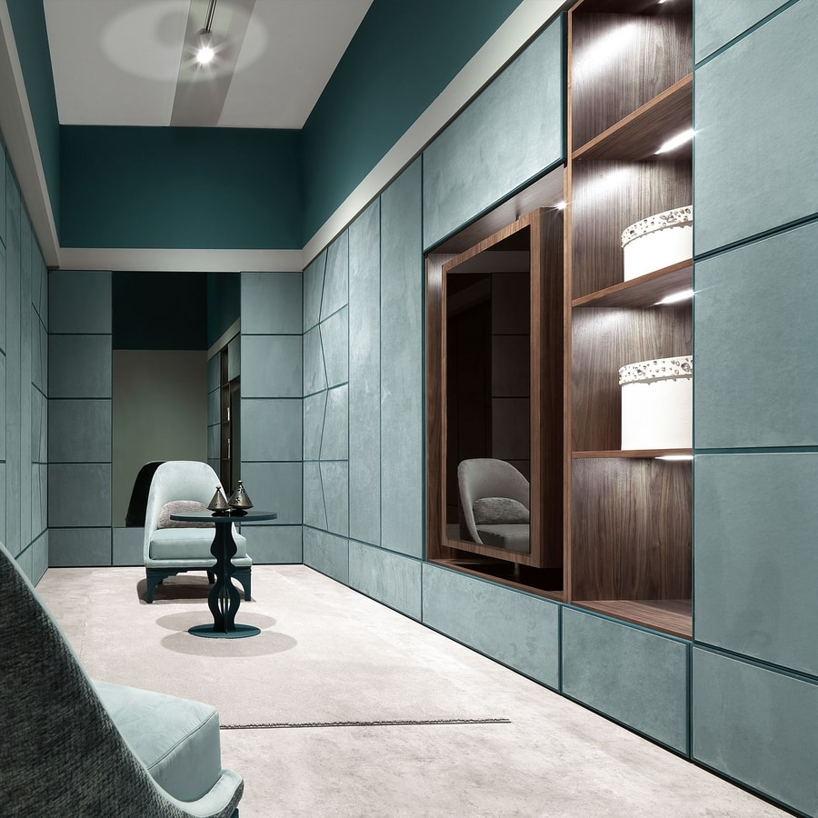 Zenit, Modular wardrobes covered in leather