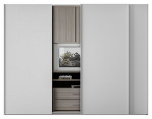 ZERO, Wardrobe with revolving TV stand