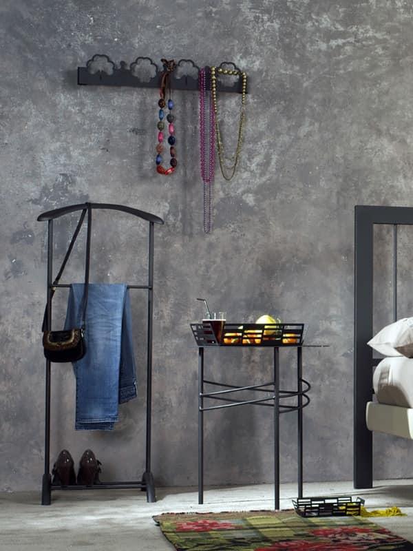 Albert valet, Valet stand in painted metal, for bedroom