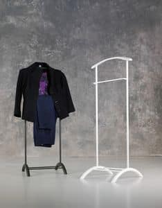 Albert valet, Valet stand in painted metal, for bedroom
