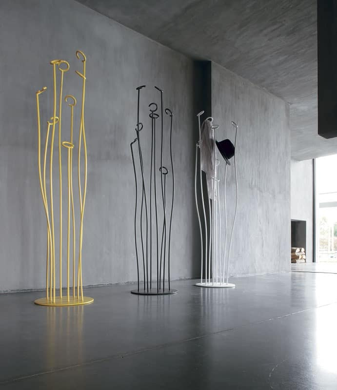 ALGA, Hanger in curved and lacquered rod, for office