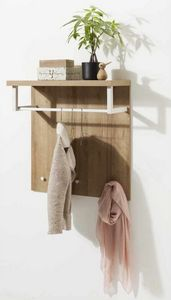 Appendiabiti Con Piano Portatutto In Legno Design Moderno, Hanger with wooden top