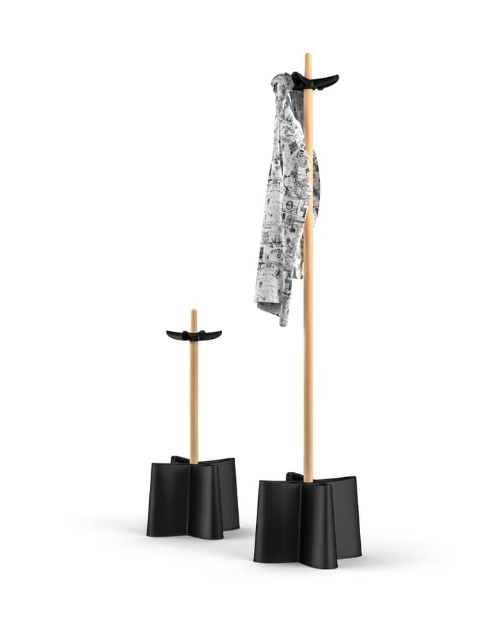 Art. 867 Dumbo, Freestanding coat rack, in wood and polypropylene