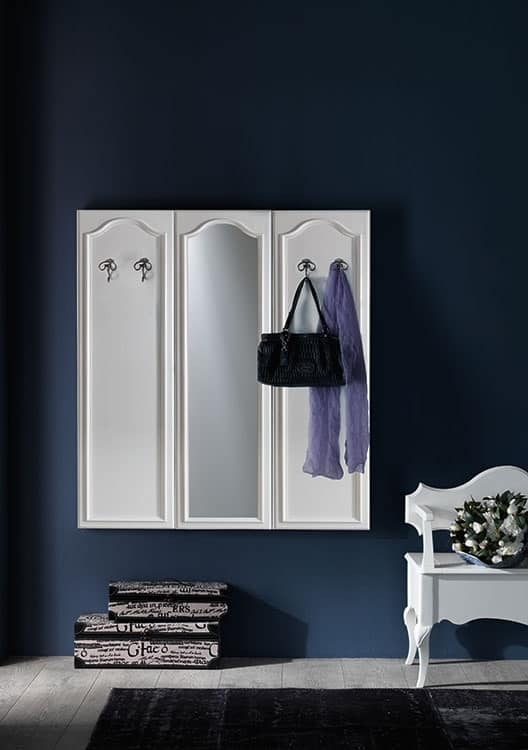 Art. AX516, Wall modular coat rack, in classic style